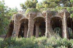 Parc Guell Barcelone, Espagne Images libres de droits