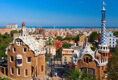 Parc Guell Barcelone, Espagne photos stock