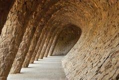 Parc Guell dans Barcelone, Espagne Photographie stock libre de droits