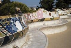 Parc Guell dans Barcelone, Espagne Photos stock