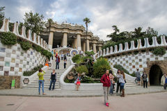 Parc Guell de Antoni Gaudi, Barcelona Imagen de archivo
