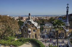 Parc Guell, Espanha de Barcelona Imagens de Stock Royalty Free