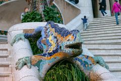 Free Parc Guell, Gaudí`s Colourful Mosaic Salamander, Known As Stock Photography - 153117062