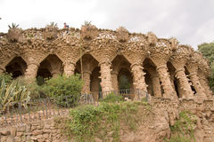 Parc guell by Gaudi Royalty Free Stock Images