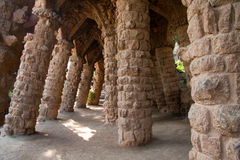 Parc Guell, Gaudi. Barcelona Stock Images
