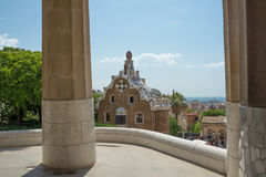 Parc Guell made by  Antoni Gaudi - Barcelona Stock Photography