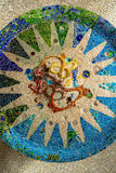 Parc Guell Mosaic. Parc Guell Colorful Mosaic Ceiling stock photography