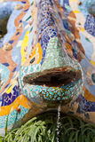 Parc Guell Mosaic Salamander Royalty Free Stock Photo