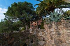 Parc Guell trädgård Royaltyfri Foto