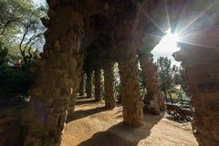 Parc Guell trädgård Arkivbilder