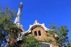 Parc Guell w Barcelona, Hiszpania fotografia stock