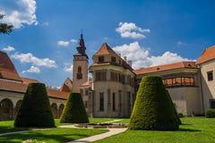 Parc in het Telc-kasteel Royalty-vrije Stock Afbeeldingen
