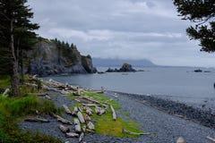 Parc historique d'état d'Abercrombie de fort, Kodiak Images libres de droits