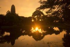 PARC HISTORIQUE DE L'ASIE THAÏLANDE AYUTHAYA Images libres de droits