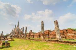 Parc historique Thaïlande d'Ayuthaya Photographie stock libre de droits