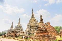 Parc historique Thaïlande d'Ayuthaya Images libres de droits