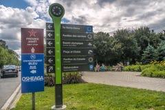Parc Jean-Drapeau singt Lizenzfreies Stockbild