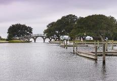 Parc la Caroline du Nord d'héritage de Currituck de pont images libres de droits