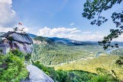 Parc la Caroline du Nord de roche de cheminée photo stock