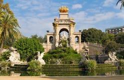 parc la fuente barcelona ciutadella de en Стоковые Фотографии RF