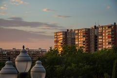 Parc Labordeta à Saragosse Photographie stock libre de droits