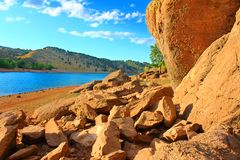 Parc le Colorado du comté de réservoir de Horsetooth Images libres de droits