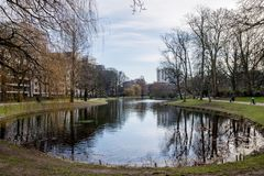 Parc Leopold in Brussels Belgium. The Parc Leopold, or Leopoldspark, near the European Parliament in Brussels, Belgium, on 17. February 2018 Stock Photo