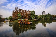 parc liwan de lac à Canton Guangdong Chine Images stock