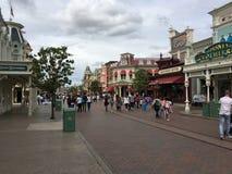 Parc Main Street, Etats-Unis de Disneyland Image libre de droits