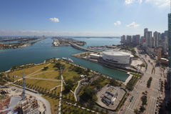 Parc Miami du centre de musée de vue aérienne Image stock