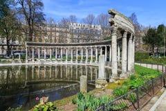 Parc Monceau,巴黎 库存照片