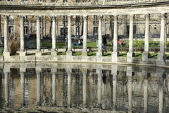 Parc Monceau with its Classical Colonnade, Paris Stock Image