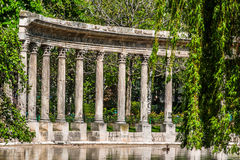Parc-monceau Spalten-Paris-Stadt Frankreich lizenzfreies stockfoto
