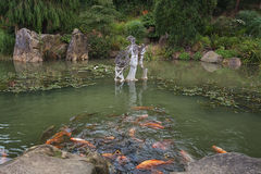 Parc Mondo Verde, imagem do jardim japonês Imagens de Stock Royalty Free