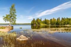 Parc Monrepo de paysage dans Vyborg photo stock