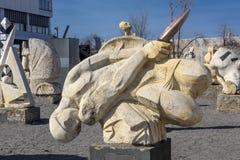 Parc Museon, beaucoup de sculptures blanches de sculpture sous le ciel ouvert images libres de droits