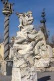 Parc Museon, beaucoup de sculptures blanches de sculpture sous le ciel ouvert photo stock