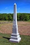 Parc national 3ème Indiana Cavalry Memorial de Gettysburg images libres de droits