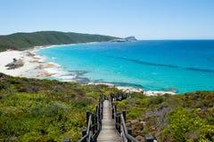 Parc national Albany de Torndirrup de plage de câble Photographie stock libre de droits