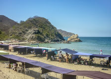 Parc national Bahia Concha Beach de Tayrona Image libre de droits