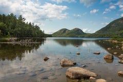 Parc national d'Acadia d'étang de la Jordanie, Maine Image libre de droits
