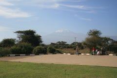 Parc national d'Amboseli, à côté de la TA kilimanjaro Photos libres de droits
