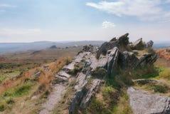 Parc national d'Armorica en Brittany France - montagne d'Arrée Photographie stock