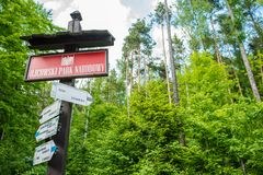 Parc national d'Ojcow Photo stock
