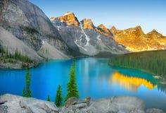 Parc national de Banff, lac moraine Images libres de droits