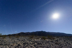 Parc national de Death Valley dans la nuit Photo stock