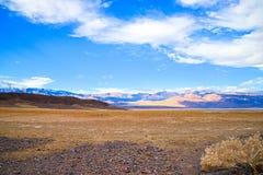Parc national de Death Valley - flanc de coteau peint photographie stock