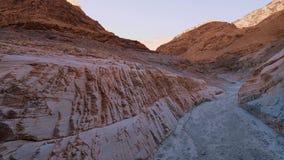 Parc national de Death Valley - le canyon de mosaïque banque de vidéos