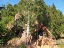 Parc national de Gauja (Lettonie) Images libres de droits