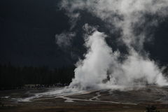 Parc national de Geysir yellowstone Photo libre de droits